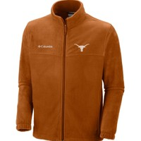 Columbia Men's Texas Longhorns Orange Flanker Full-Zip Fleece Jacket