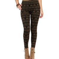 GoldBlack Reindeer Leggings