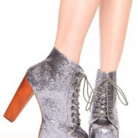 Lita Platform Boot - Pewter Glitter | NASTY GAL | Jeffrey Campbell shoes, Evil Twin, MinkPink, BB Dakota, vintage dresses + more!