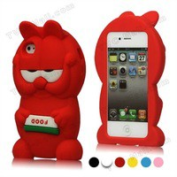 Source New Lovely Cute Soft Silicone Garfield 3D Case Cover for iPhone 4 4S,3D Silicon Animal Case for iPhone 4 on m.alibaba.com
