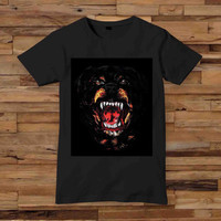 New Givenchy Rottweiler Dog t shirt T shirt White Black Dsign t-shirt men S,M,L,XL