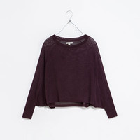 BATWING CROP SWEATER
