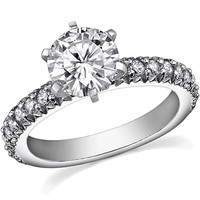 Round Moissanite Engagement Ring Setting, 0.54ct [eng099] - $680.00 : MoissaniteCo.com, Fine Moissanite Rings and Moissanite Jewelry