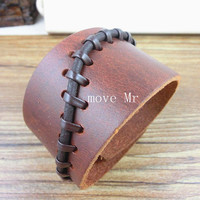 Antique Men's brown leather bracelet,Mens jewelry ,mens wrist band leather bracelet,jewelry bangle cuff bracelet,Christmas gift X-2