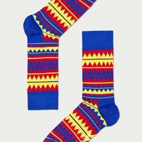 Connoisseur — HAPPY SOCKS [ZIG ZAG] BLUE