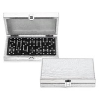 Bling Domino Set With Silver Croc Case | Host & Hostess Gifts | Gifts | Z Gallerie