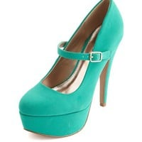 NUBUCK MARY JANE PLATFORM PUMP