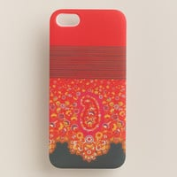 RED PAISLEY IPHONE 5 CASE