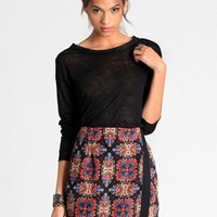 Stop And Stare Faux Wrap Skirt