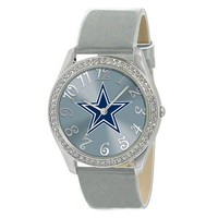 Dallas Cowboys Ladies Stainless Steel Analog Glitz Watch