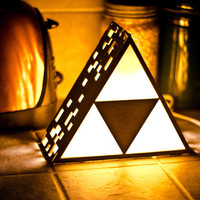 Zelda Triforce Lamp MINI - Hanging or End Table