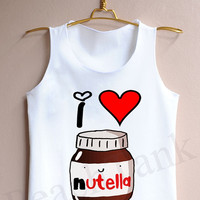 I Heart Nutella - Tank Top , Tank , Cute Tank Top , I Heart Nutella Tank Top , Heart Tank Top , Nutella Tank Top