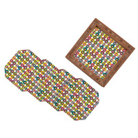 Sharon Turner Matryoshka Candy Polka Coaster Set
