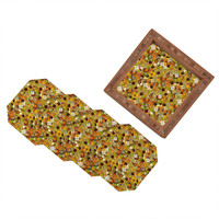 Sharon Turner Mulled Zest Paisley Coaster Set