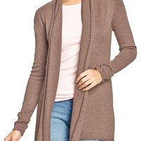Women's Roll-Edge Open-Front Sweaters