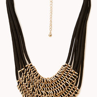 Striking Layered Chain Bib Necklace