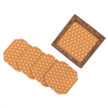 Aimee St Hill Leela Orange Coaster Set