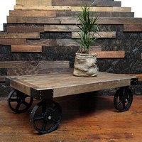 Coffee Table - Wheeled Cart - Big Merch