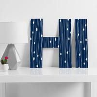 Heather Dutton Navy Entangled Decorative Letters