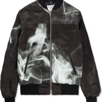 Black Pookie Silk Bomber Jacket