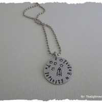 Toy Story Inspired - To Infinity and Beyond - Hand Stamped Necklace