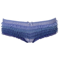 Ombre Frilly Mesh Brief | Blue | Accessorize