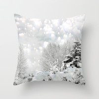 winter magic Throw Pillow by Marianna Tankelevich