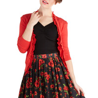 Focus on Flowers Skirt | Mod Retro Vintage Skirts | ModCloth.com