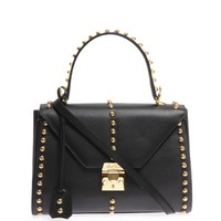 Studded Scottie leather bag