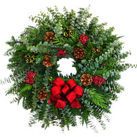 "20"" Fir & Berries Wreath"