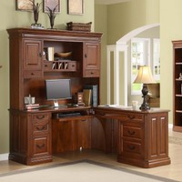 Whalen Augusta L-Shaped Desk with Optional Hutch | www.hayneedle.com