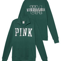 University of Miami Bling Half-zip Pullover - PINK - Victoria's Secret