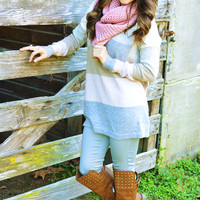 Stack Me Up Sweater: Tan