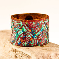 Cyber Monday Leather Jewelry Wristbands Cuffs Bracelets / Eco Friendly Bohemian Gypsy Retro Chic Christmas Holiday Winter
