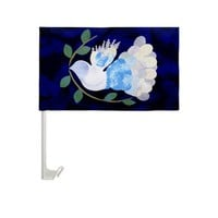 Peace Spirit Dove Car Window Flag