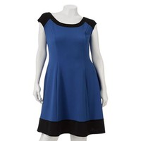 Wrapper Colorblock Dress - Juniors' Plus