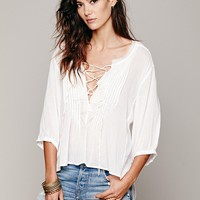 Free People FP ONE Ruffle Me Up Blouse