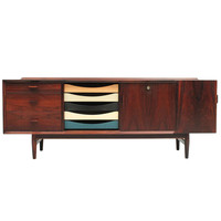 20th Century Scandinavian Design Low Rosewood Sideboard