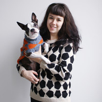 DUSEN DUSEN — Orange Pentagons Dog Sweater