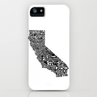 Typographic California iPhone & iPod Case by CAPow!