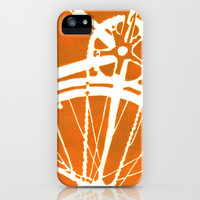 Orange Bike iPhone & iPod Case by CAPow!