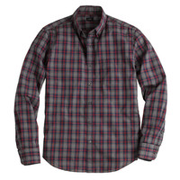 Tall Secret Wash shirt in heron grey plaid