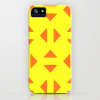 Adjacent - Yellow iPhone & iPod Case by Lauren Lee Designs