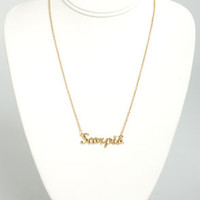Zodiac Attack Gold Scorpio Necklace