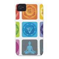 chakra,ohm, aura,zen,chakras,yoga,yogi,healer Case-Mate iPhone 4 case