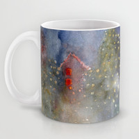 christmas lights Mug by rysunki-malunki