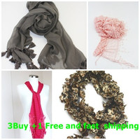 Ready to ship, 3 Buy 1 free and fast shipping, Purple lace scarf, christmas gift, scarf