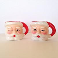 Vintage Christmas Santa mugs commodore japan orig box