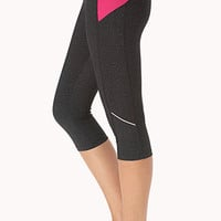 Heathered Skinny Performance Capris