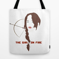 KATNISS - The Girl on Fire Tote Bag by Lauren Lee Designs